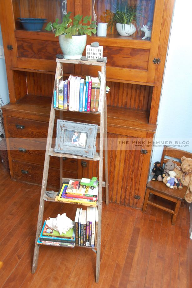 small ladder shelf