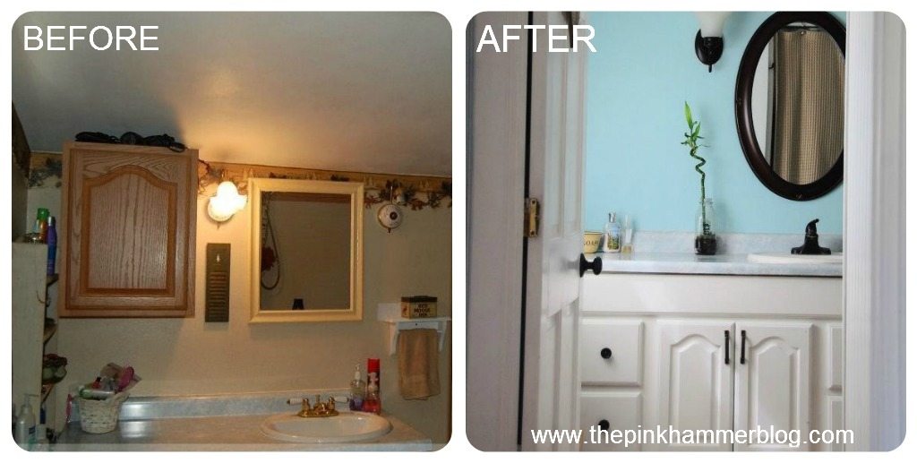 This is a transformation I completed Fall of 2011  I thought I would share quickly how I changed the entire look of my bathroom in just a few short days and. Serene bathroom makeover   DIY on a budget   Endless Acres Farmtiques