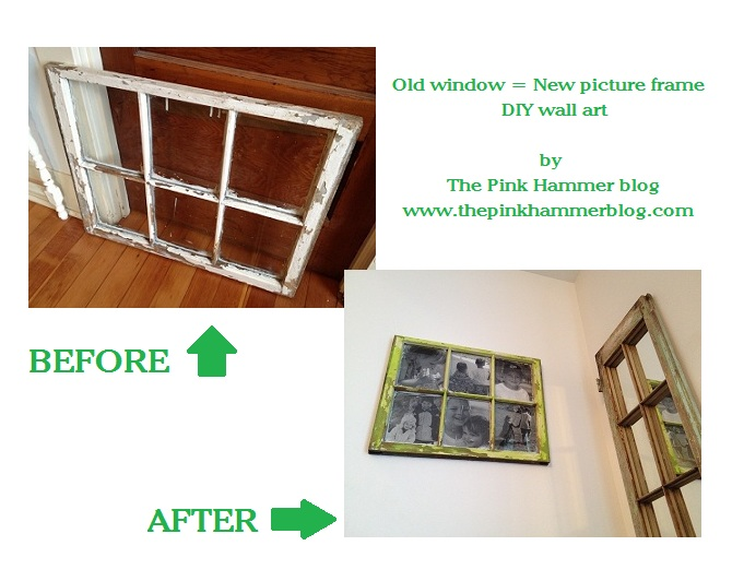 Old window new picture frame diy upcycle endless for Old picture frame projects