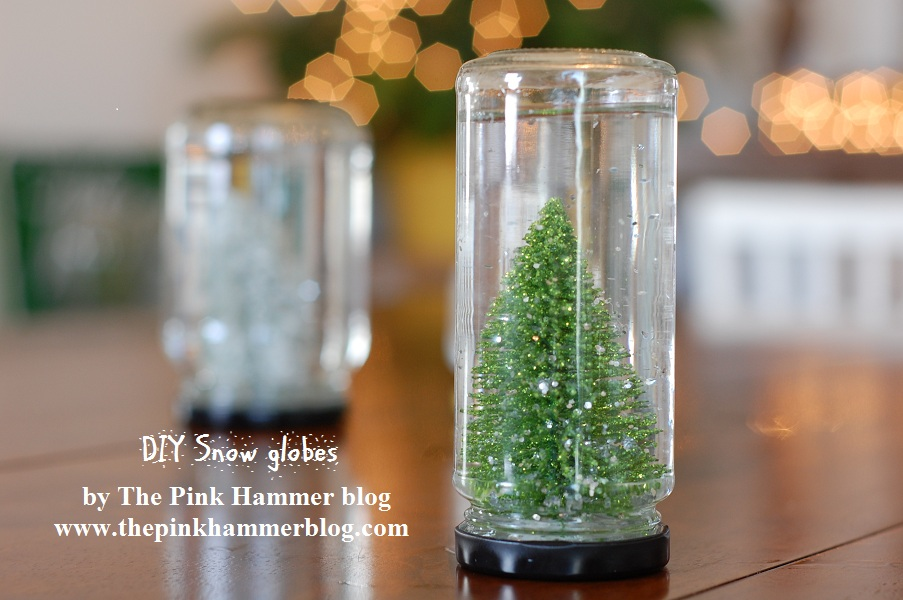 create your own snow globe diy christmas craft the pink hammer blog