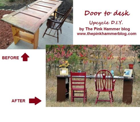 Door desk by The Pink Hammer blog