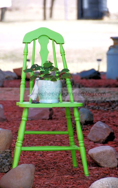Bold chair makeover by The Pink Hammer blog