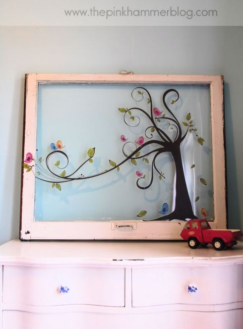 Window wall art by The Pink Hammer blog