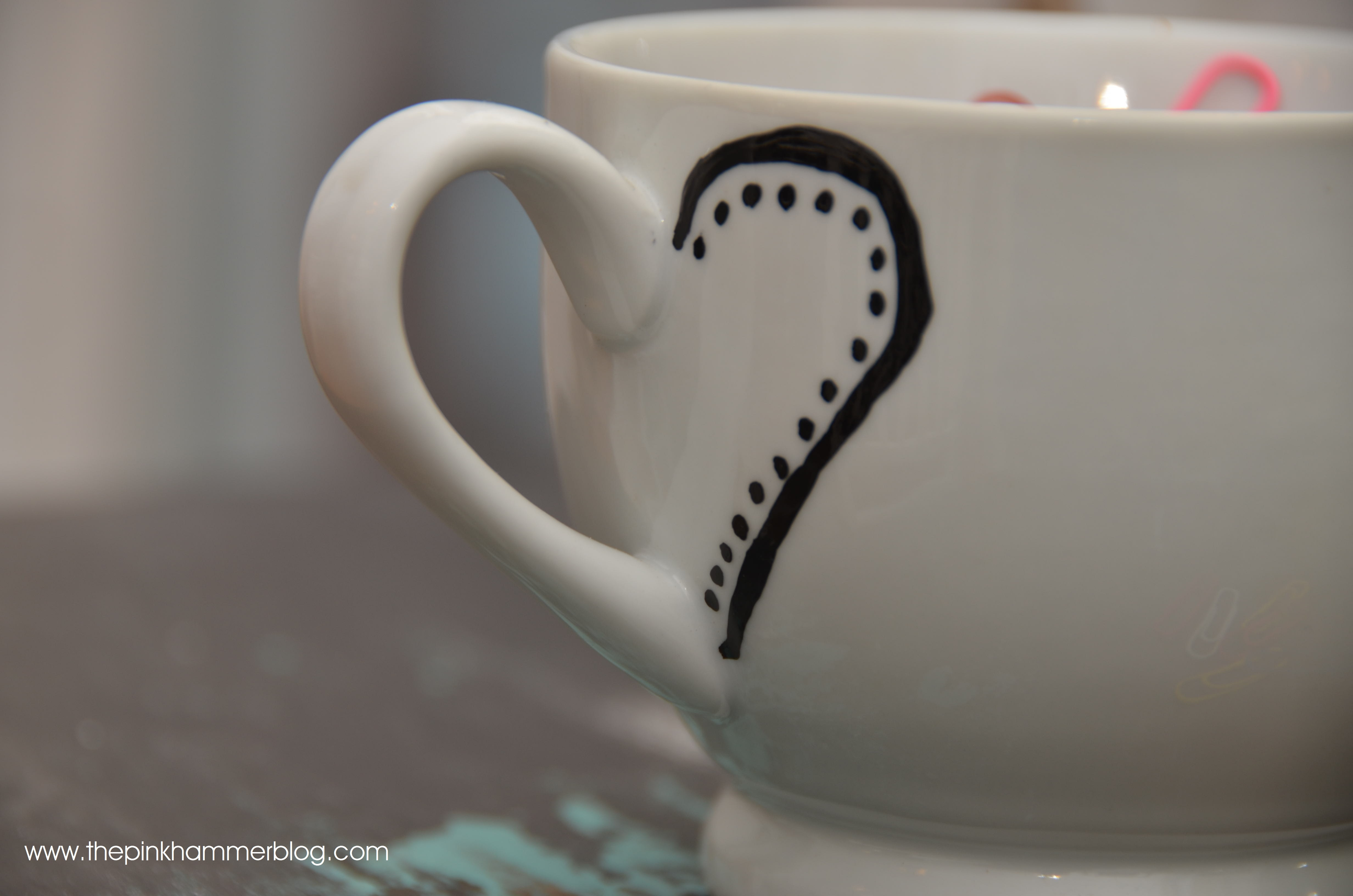 How To Write With Sharpies On Mugs The Pink Hammer Blog