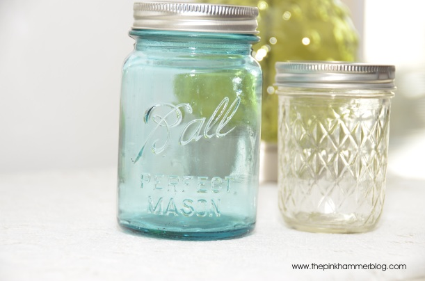 Mason & jelly jar soap dispensers www.thepinkhammerblog.com