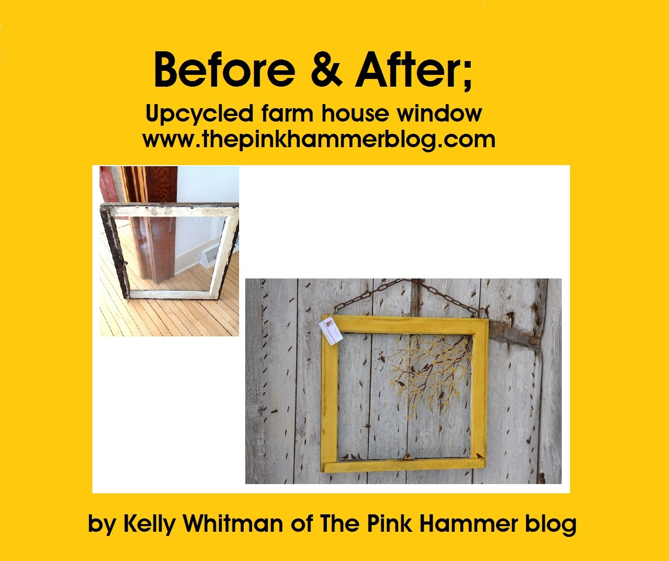 what to do with old windows | The Pink Hammer Blog