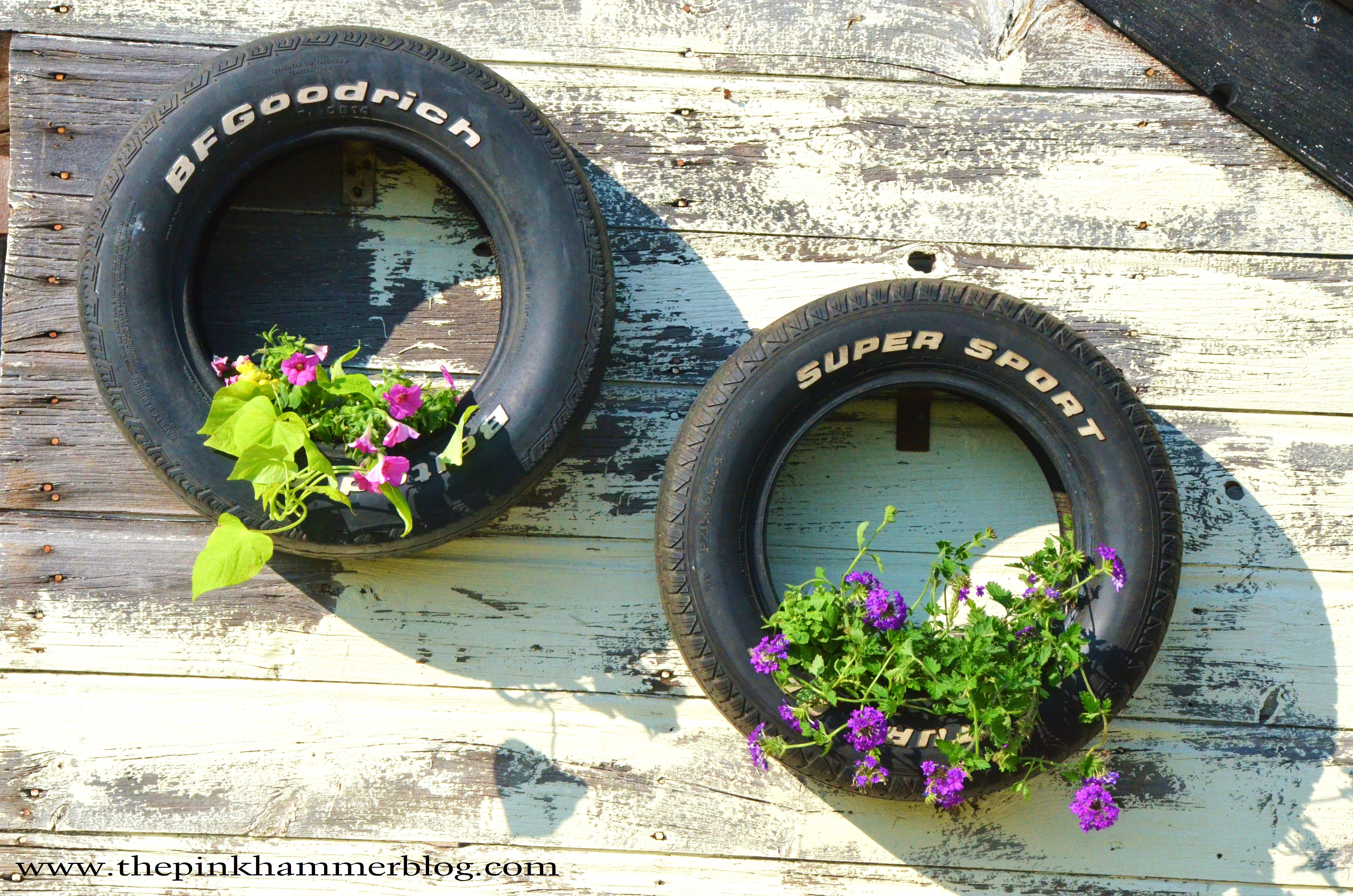 From old tires to upcycled tire planters diy trash to for How to make a tire garden